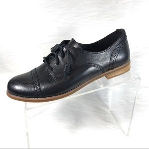 Sperry Topsider Oxfords Black Leather Size 8.5 M
